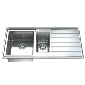 1541 - Ultra Modern 1.5 Bowl Kitchen Sink And Waste